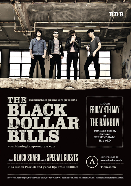 Black Dollar Bills single launch promotional poster.