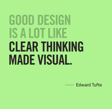 Good design is a lot like clear thinking made visual
