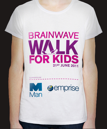 Branded T-shirt design for the events' fundraisers.