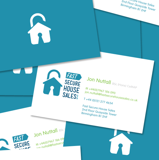 Brand identity website design stationery fast secure house sales fshs business card design reheart Image collections