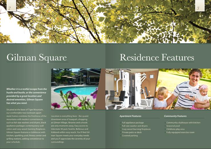 Brochure Design Marketing Materials Gilman Square Avenue