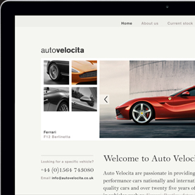 Auto Velocita Website Design