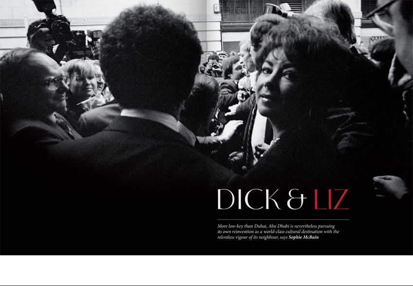 Design of the 'Dick and Liz' Elizabeth Taylor portfolio feature.