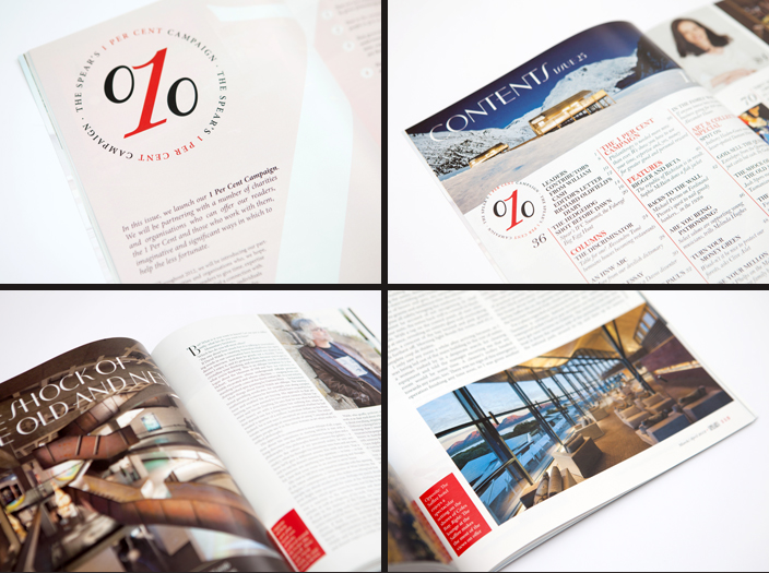 Selected spreads from Avenue's design and art direction of Spear's 25.